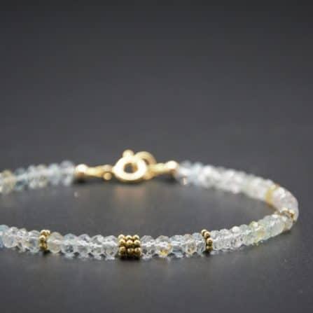 Aquamarin/Beryll-Armband